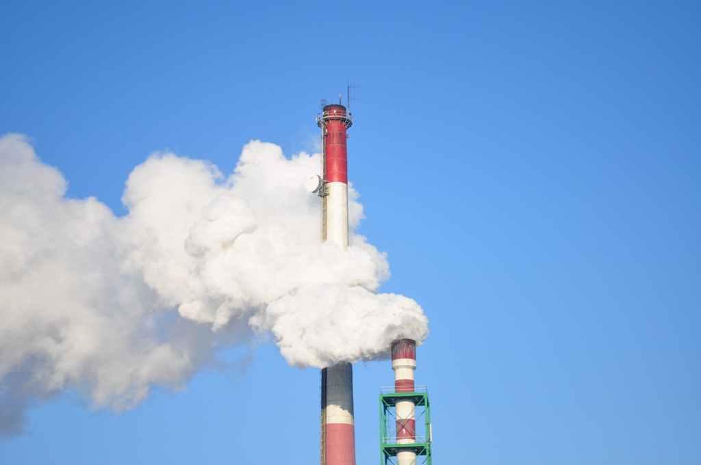 Dispersão de fumaça na atmosfera